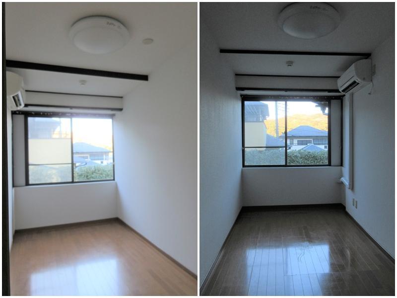 細長い洋室が2部屋