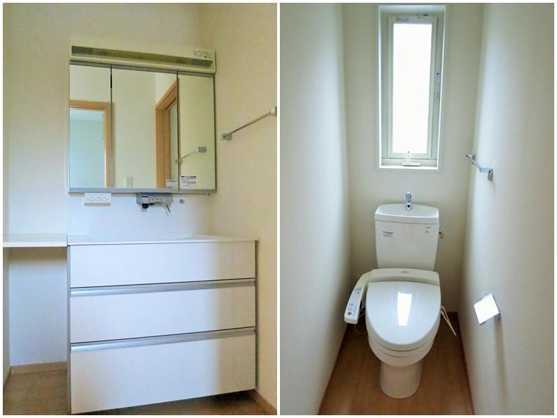 洗面|トイレは2箇所(オーナーの購入当時の写真です)