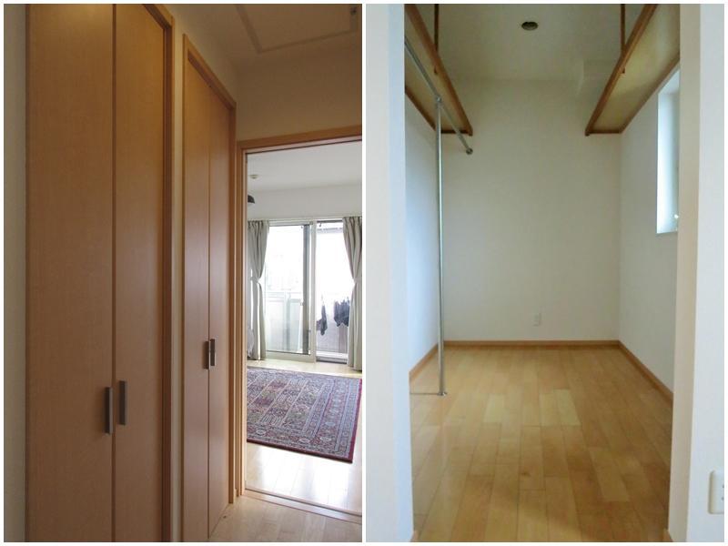 2階廊下のクローゼット|ウォークインクローゼット