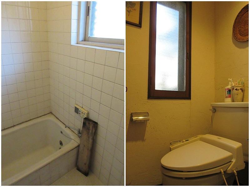 建設当時からのタイル貼りの浴室|トイレ