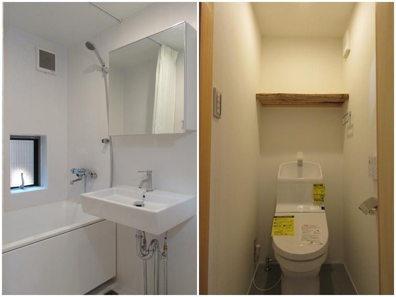 A3|こちらも浴室と洗面が同室|トイレ