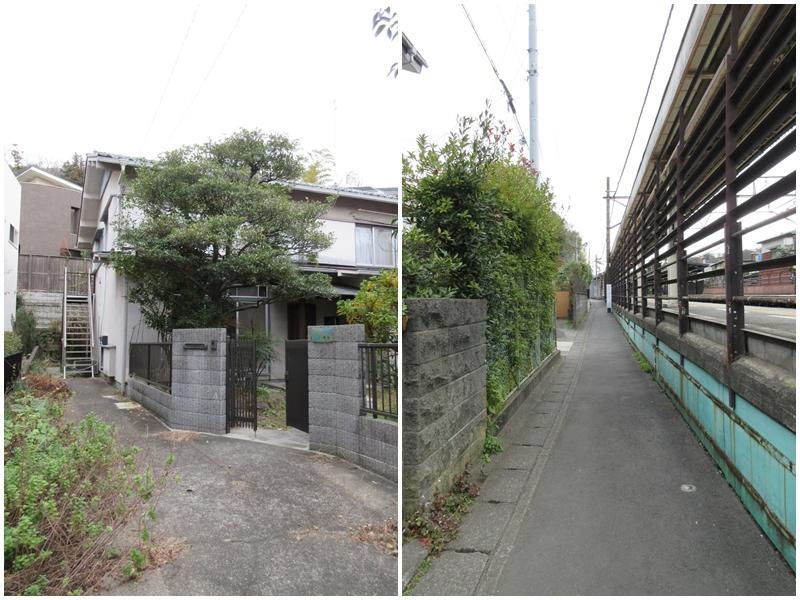 物件への小道|北鎌倉の駅からすぐ