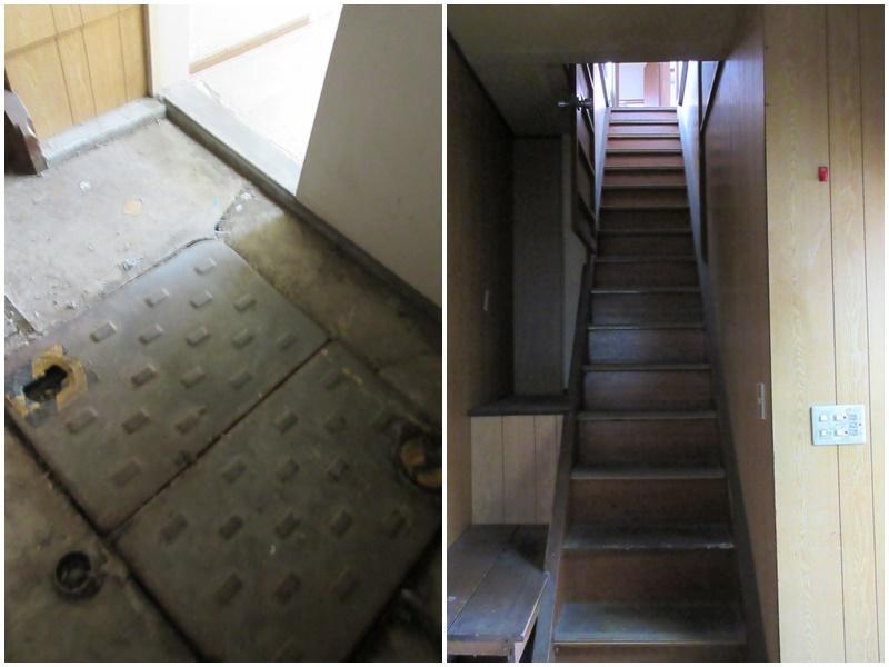 個別浄化槽がある 階段はこの感じ