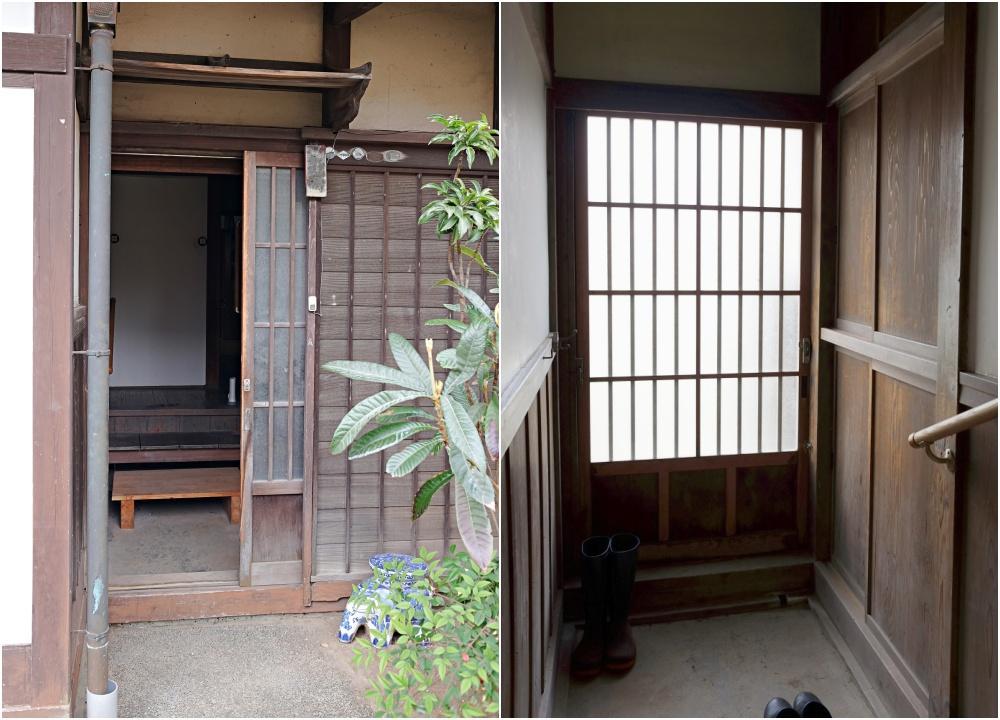 小玄関。日常的な通用口として。