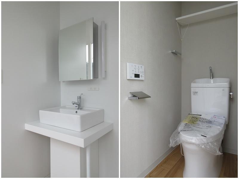 新設された洗面|トイレは2か所あり