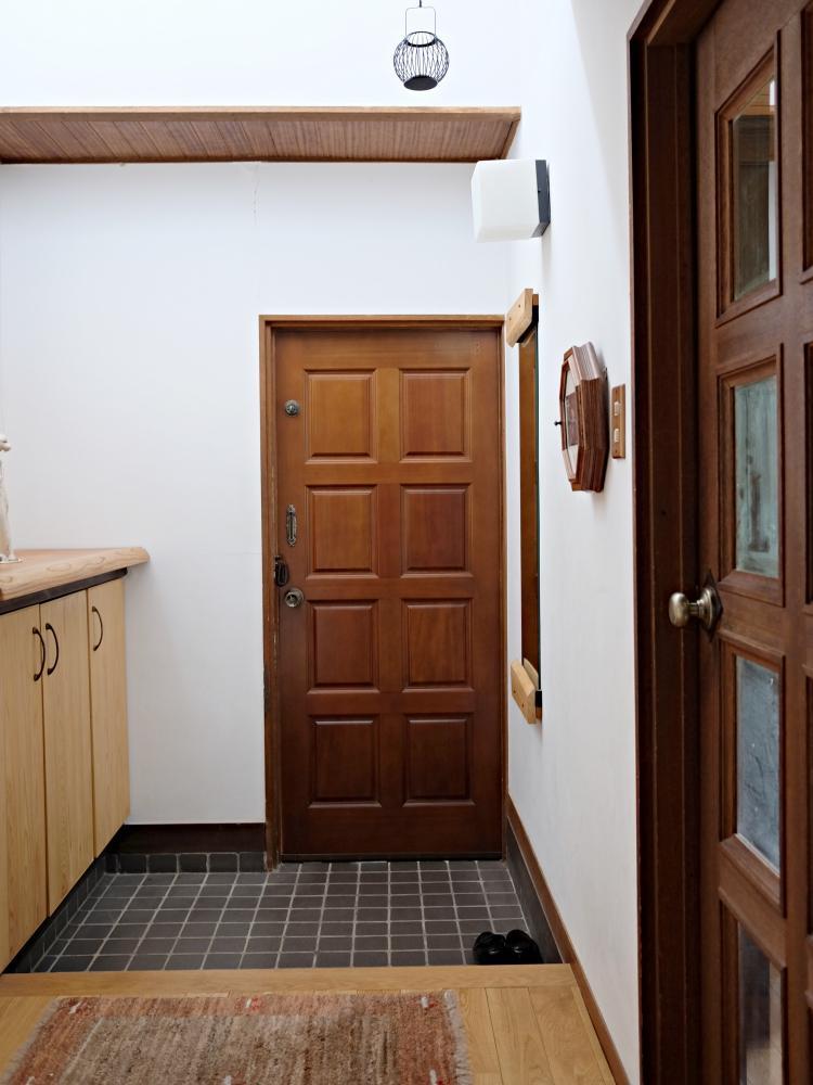開放感のある玄関。