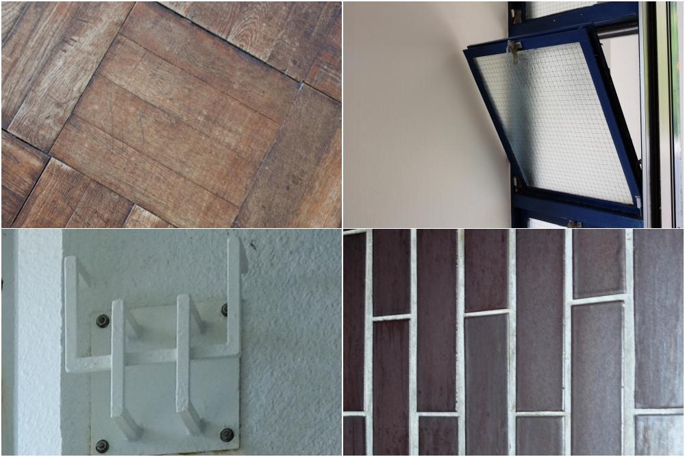オリジナルパーツ。床材/窓/物干し金物/タイル