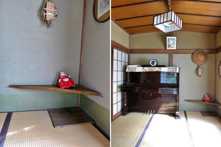 左:数寄屋風な床の間 客間の前室的な続き間