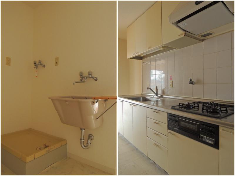 キッチンと洗濯機置き場