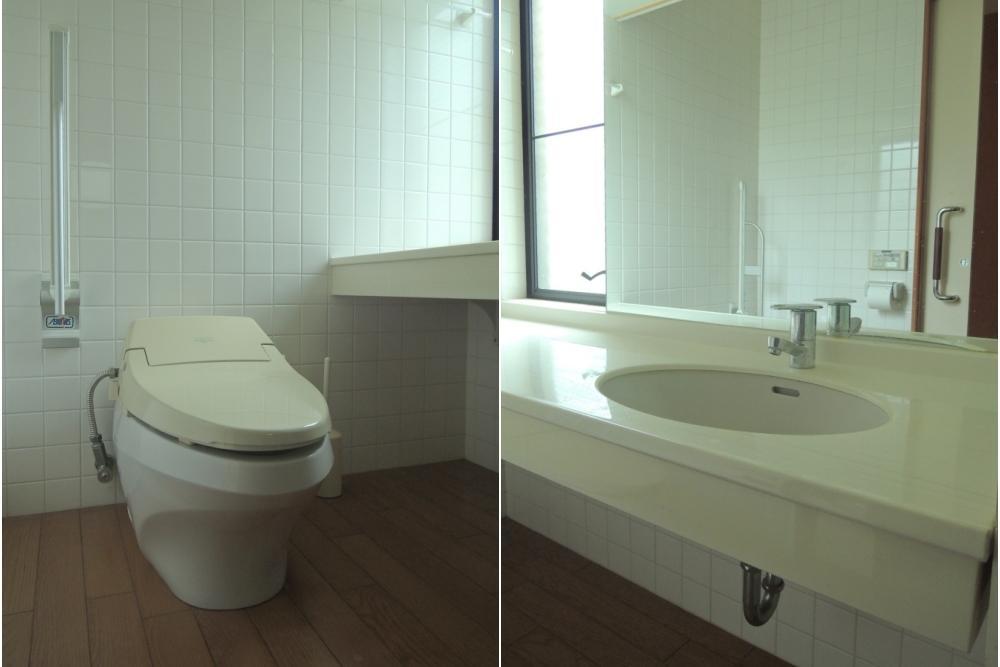 手洗い・浴室・洗面は各階にあります