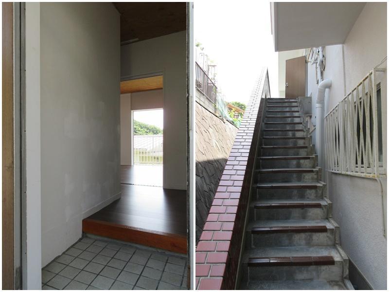 玄関|この階段で2階部分へ