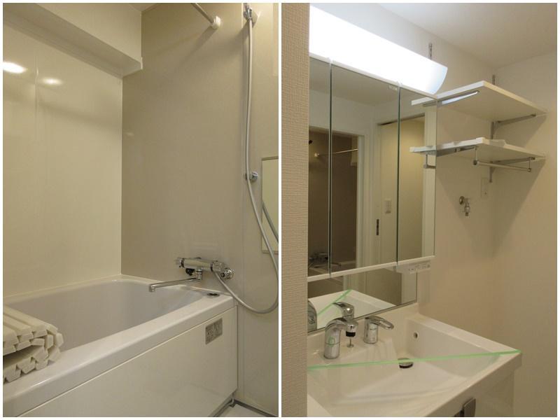 ややコンパクトな浴室|洗面脱衣所