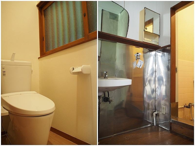 トイレは新しく、洗面は替えるか迷いどころ。