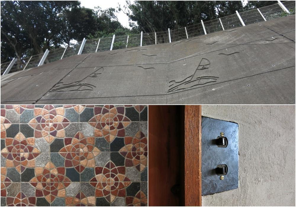 擁壁には謎の絵がある三浦市
