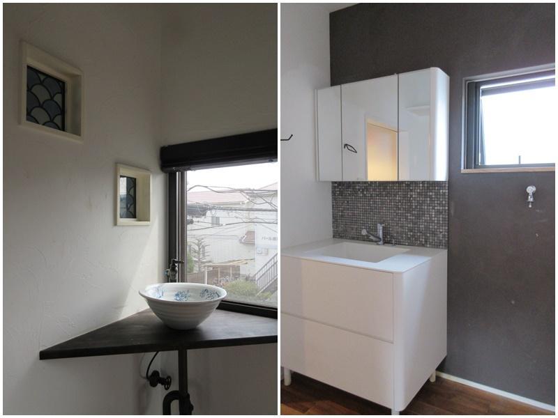 2階の洗面|1階の洗面共にオーナーのこだわりが伝わる