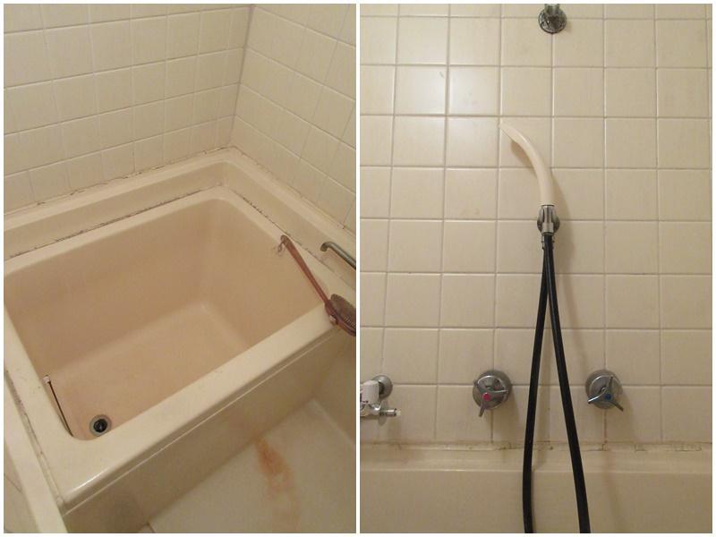 浴室の設備(クリーニング前)