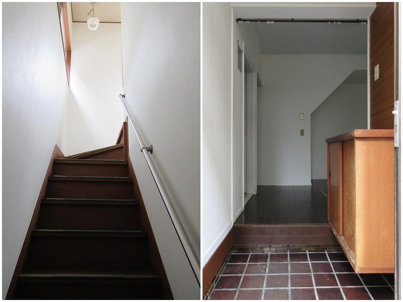 少しだけ急な階段|かわいい玄関
