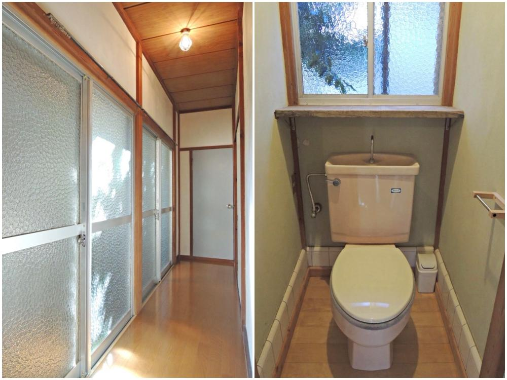 1階|廊下の先にあるトイレ