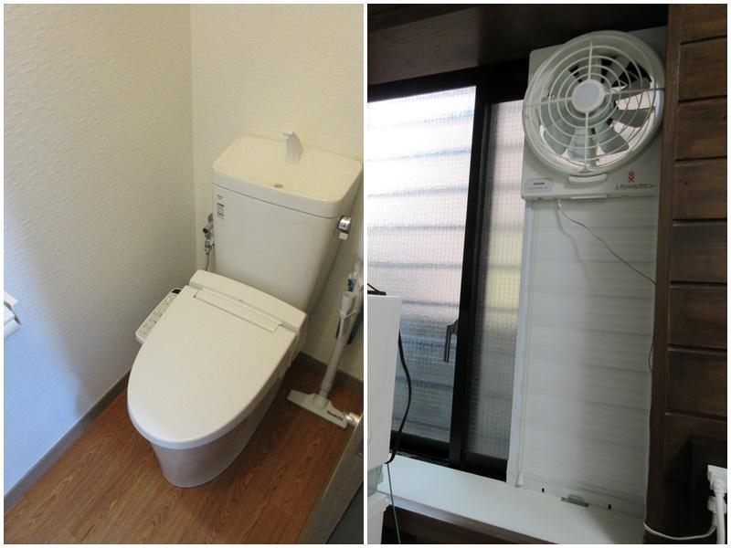 トイレ|窓付けの換気扇