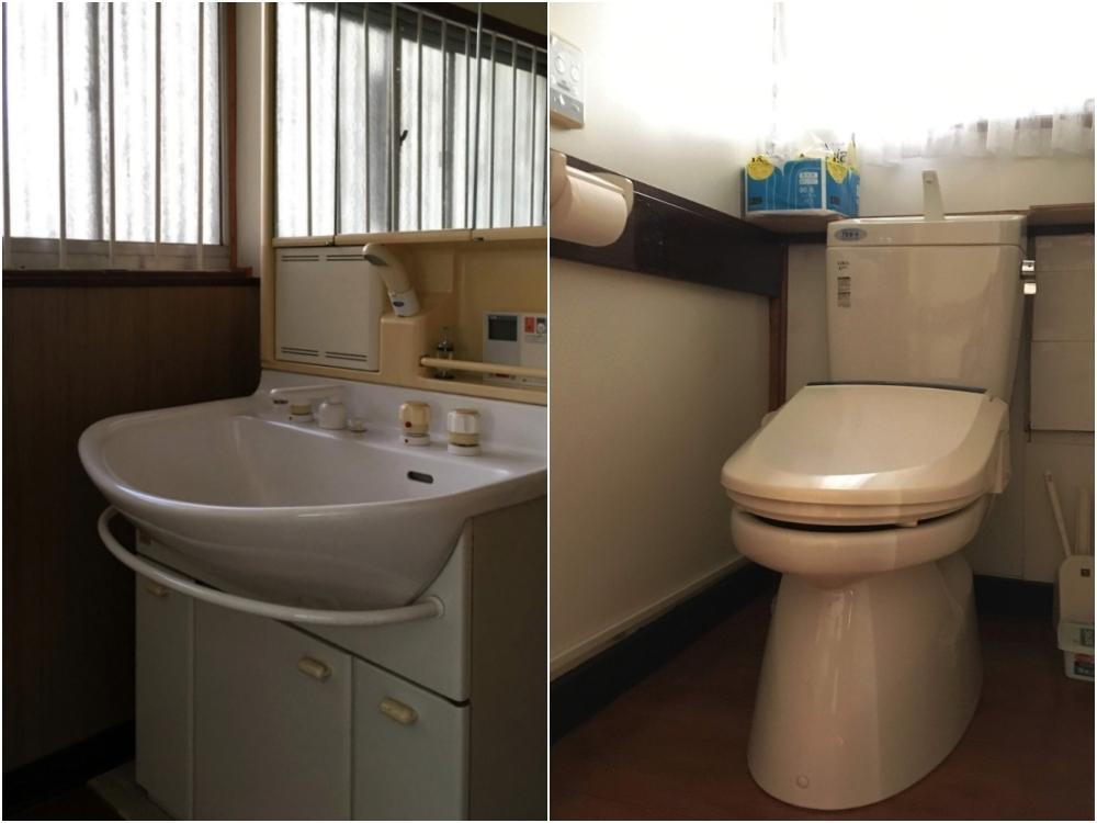 洗面・トイレ|それなりの古さ