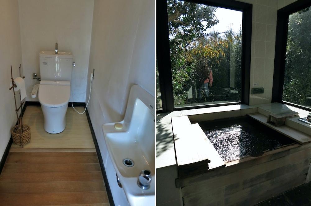 主屋のトイレと風呂(24時間風呂)