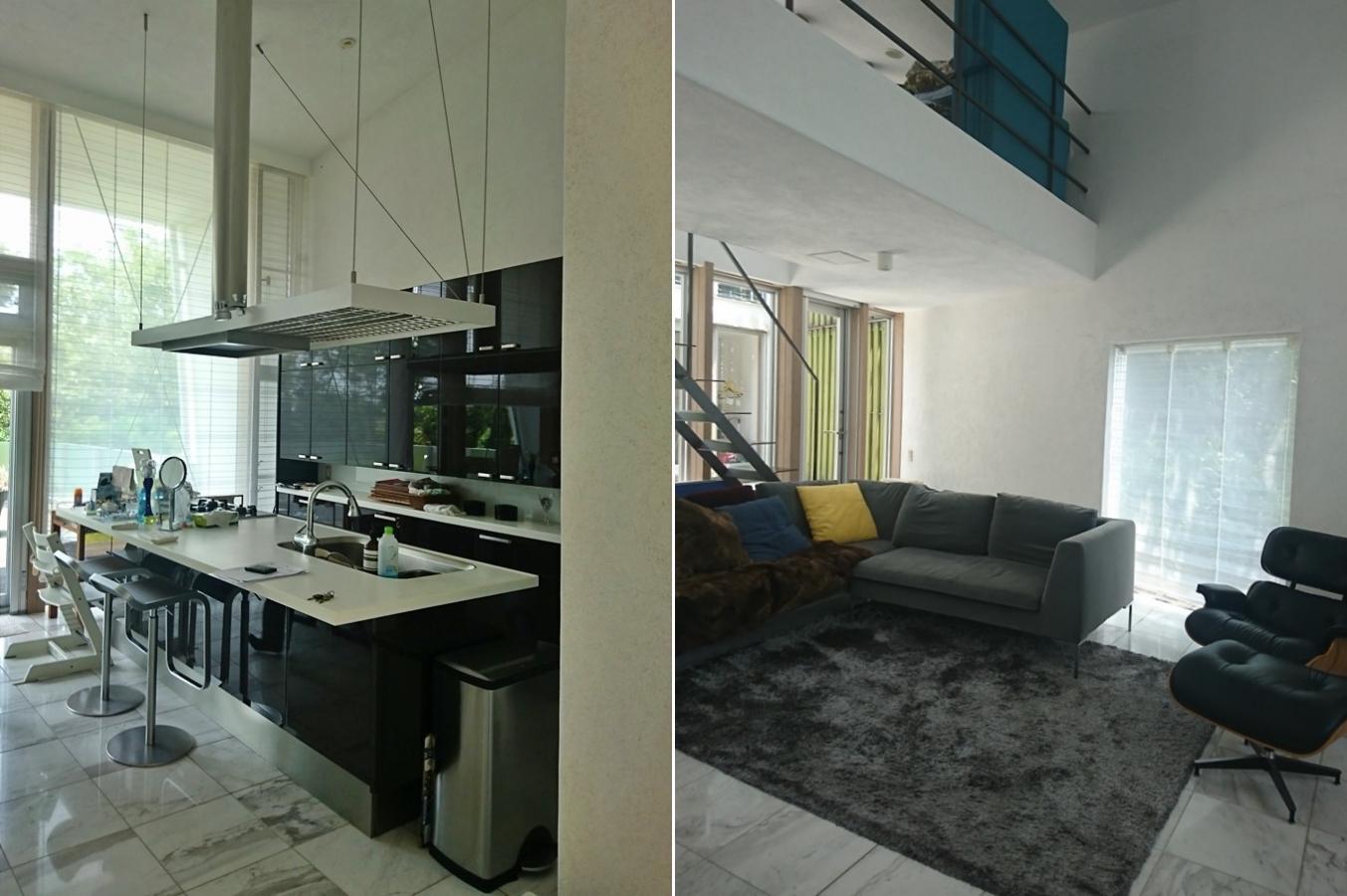 室内|キッチンも品位高く、天井も高い