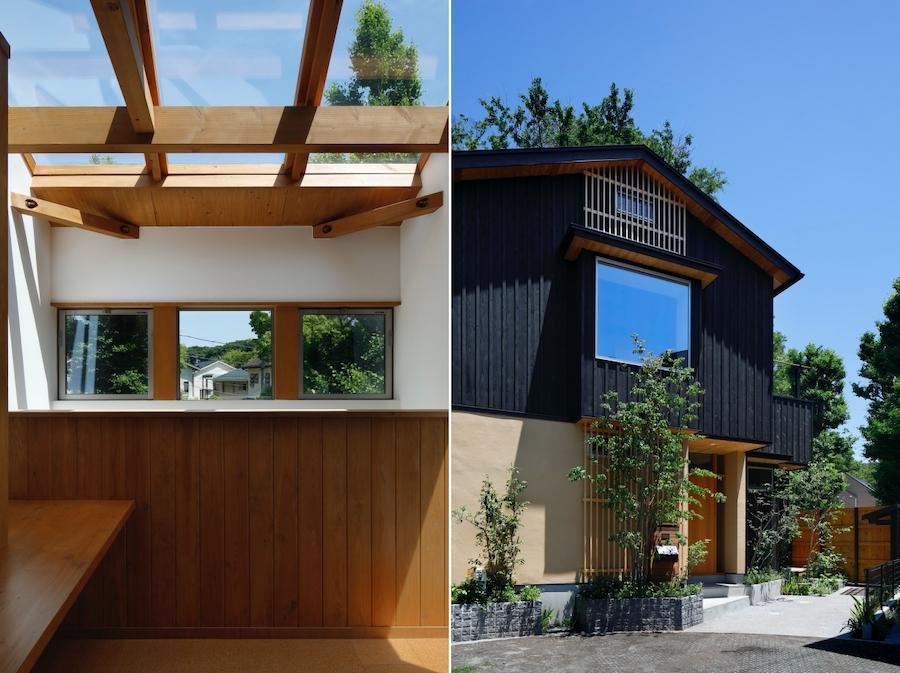 左:2階Hallは空が近い|右:外観全景