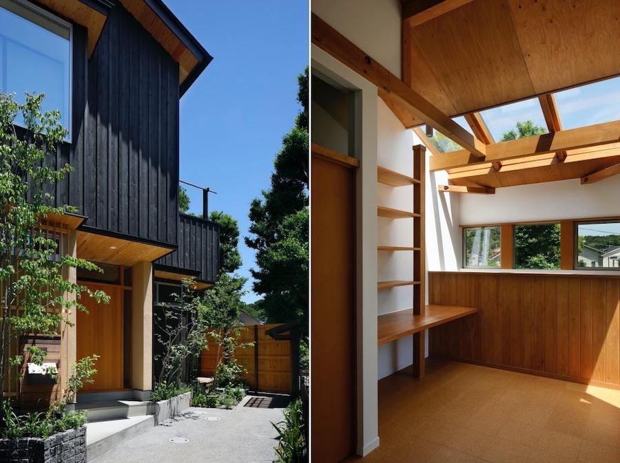 左:玄関アプローチ|右:2階Hall・Void