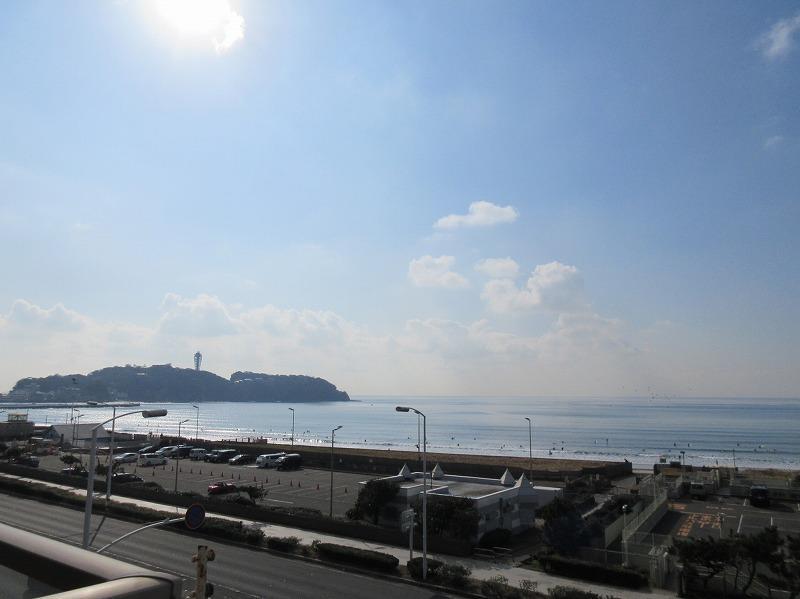 目の前に江ノ島