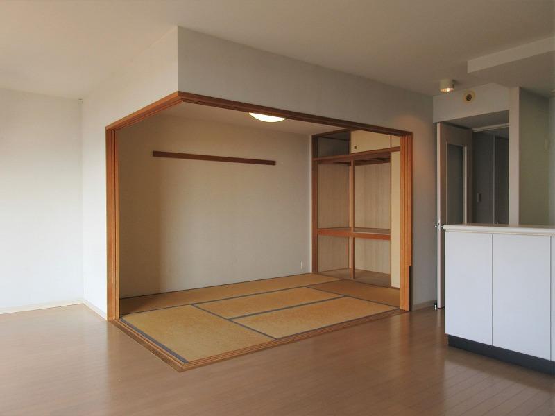 和室はこんな感じ。段差がなくフラット
