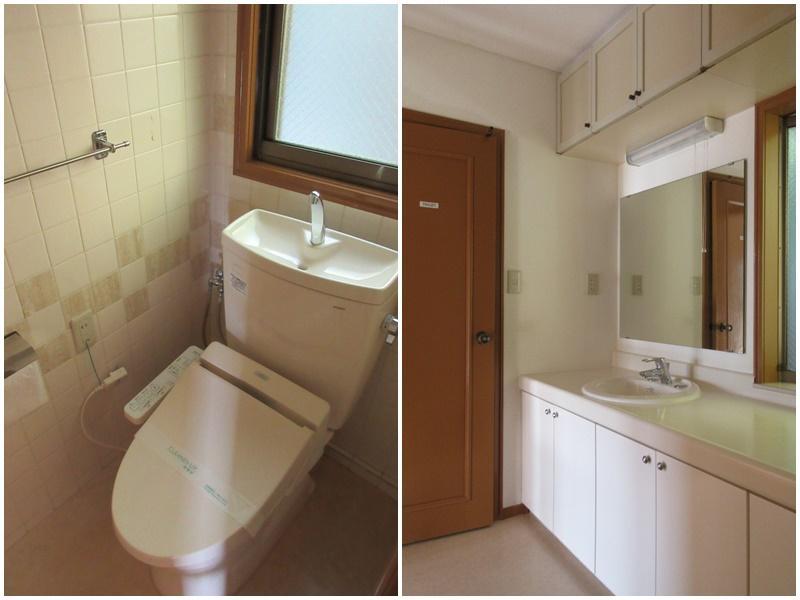 1階のトイレ|1階の洗面脱衣所