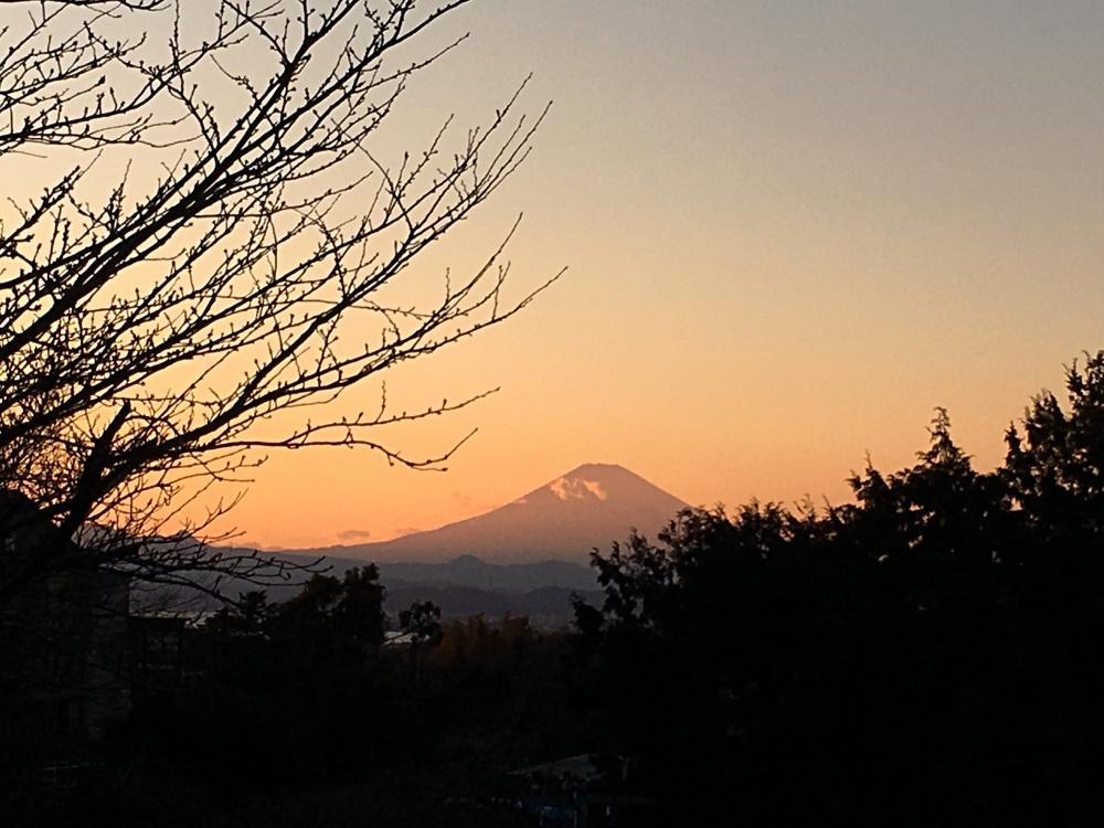 空気が澄んだ寒い日には富士山がくっきりと。