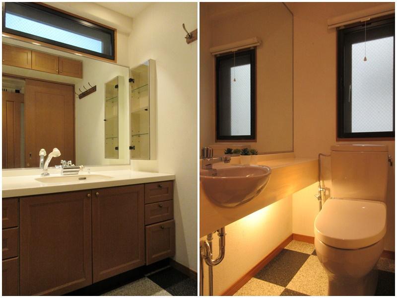 1階の洗面とトイレ
