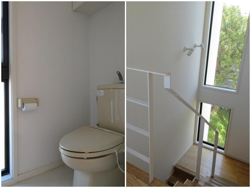 トイレは同タイプが1階2階それぞれに|階段