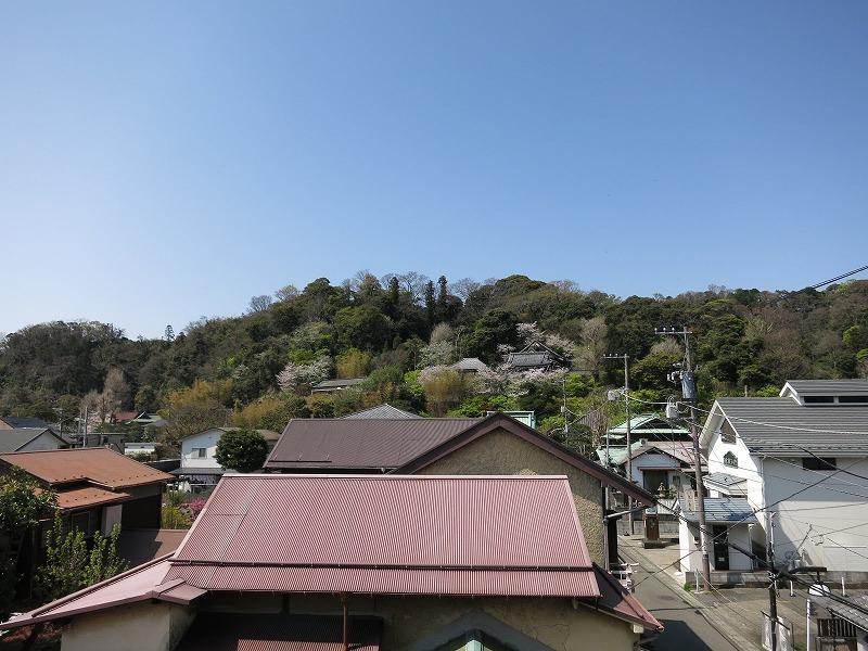 募集区画の窓より。長谷寺の山が見えます