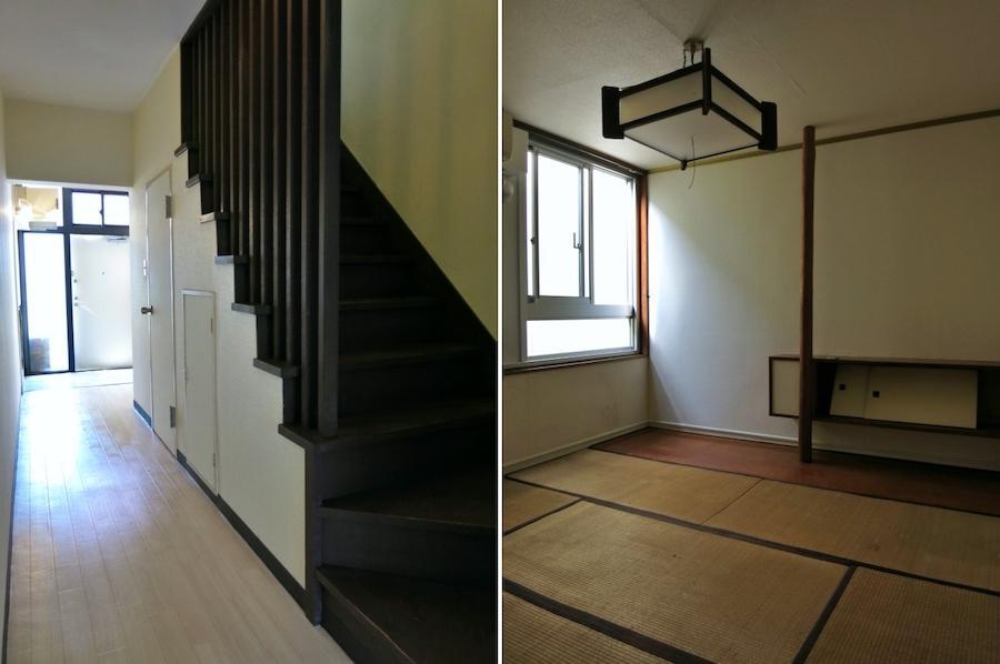 左:玄関|右:2階の和室