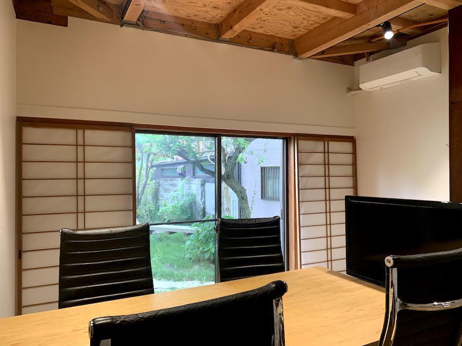 1階の共用会議室|机や椅子、モニターも利用できます