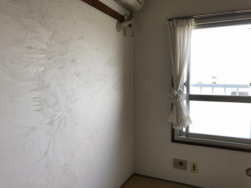 南側の部屋は珪藻土仕上