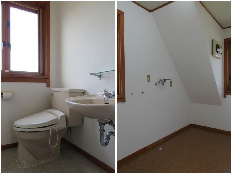 2階のトイレ|洗濯機置き場は広め