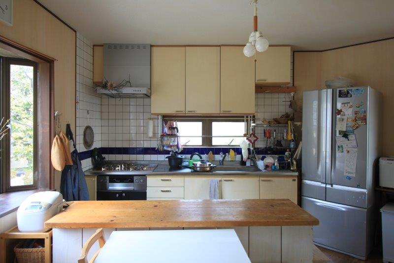 キッチン。コンロは都市ガスです。