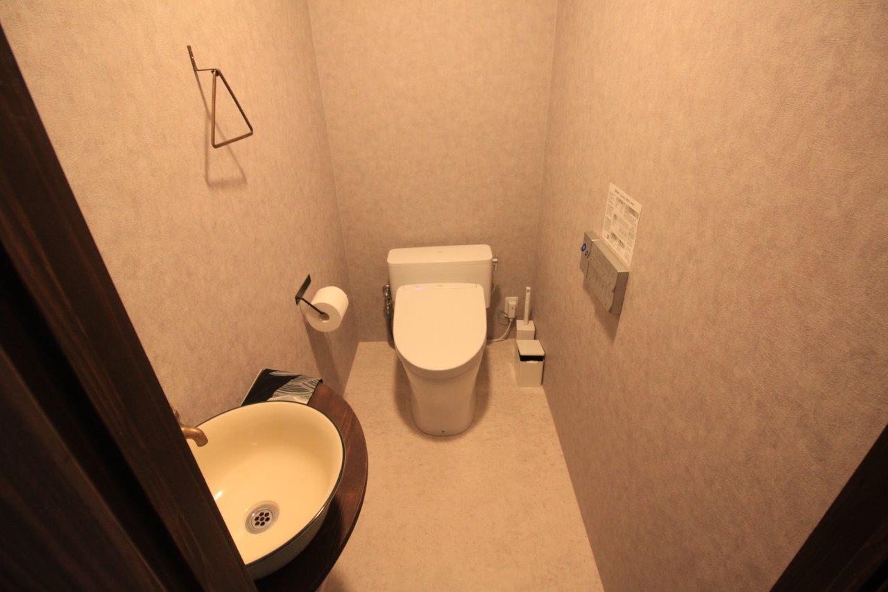 広々したトイレ
