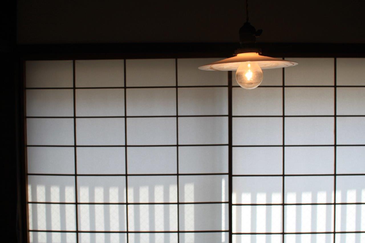 レトロな照明が良く似合います