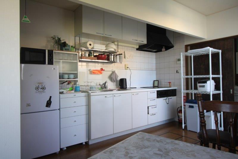 システムキッチン。家電もお使いいただけます。