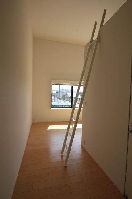 ハシゴがお部屋空間の演出もしてくれています。