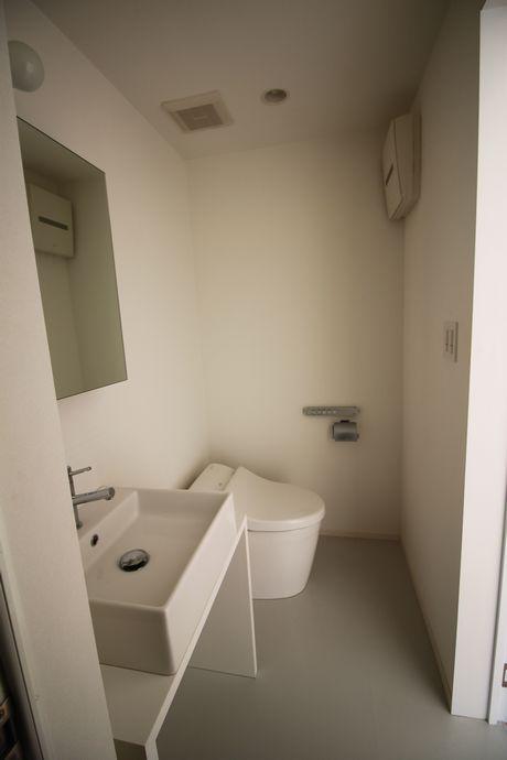 洗面、トイレ、お風呂が一体となってます。