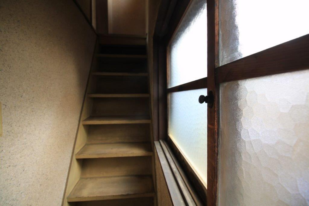 階段。急勾配です。