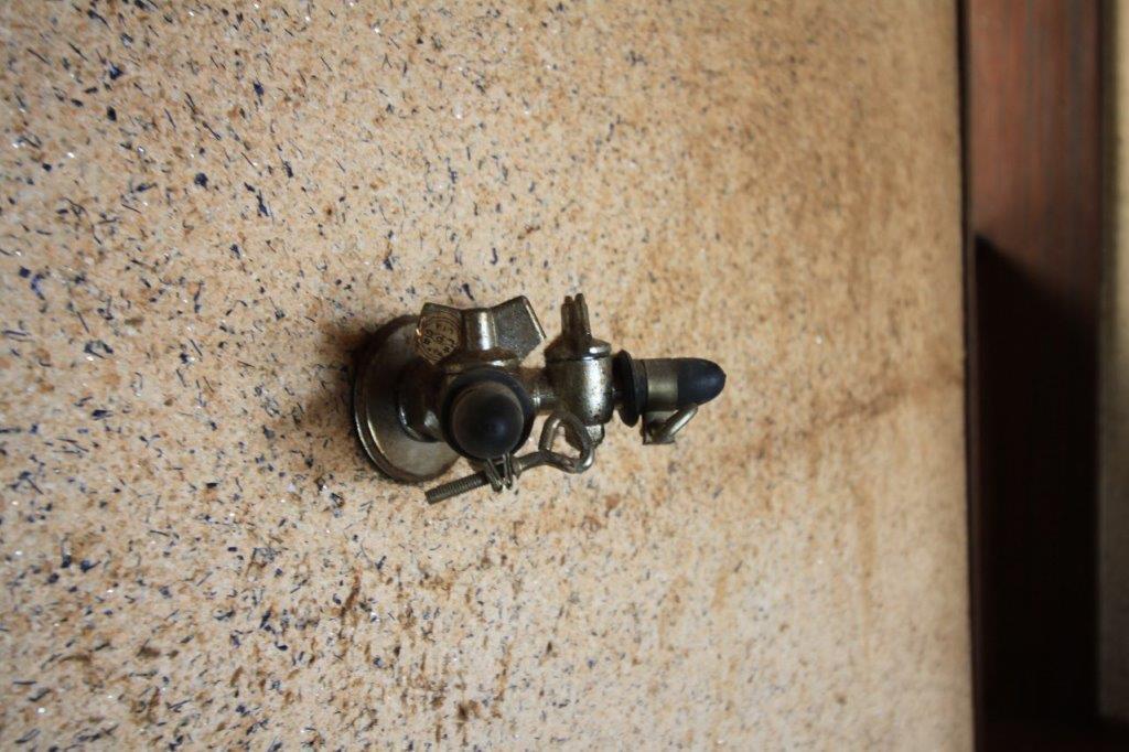 レトロなガス栓。(ガス使用は不可です。)