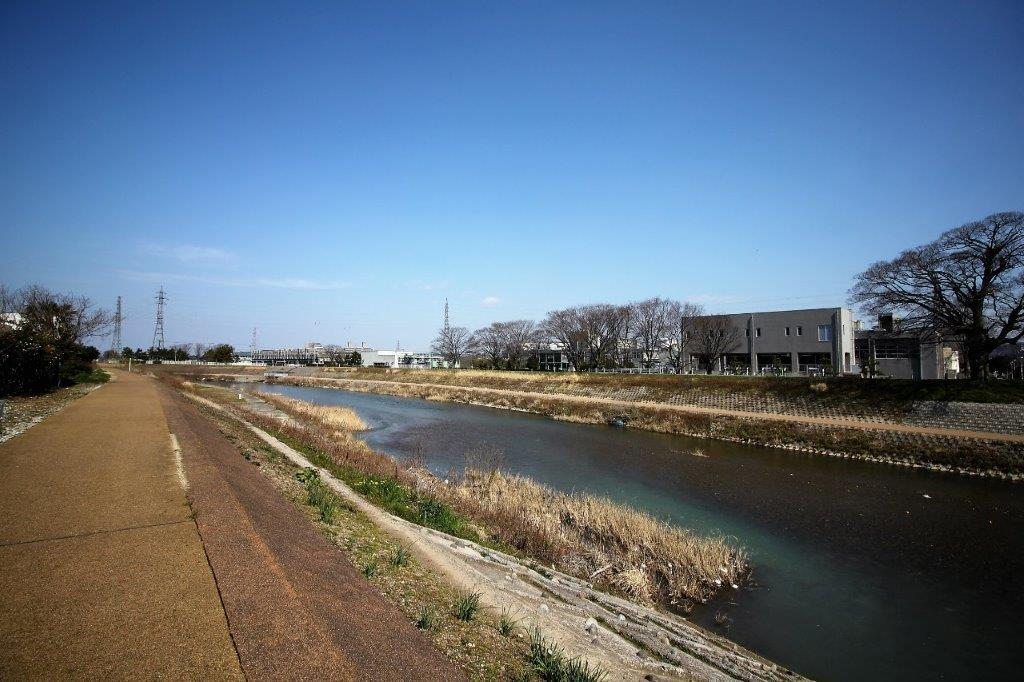 近くを流れる浅野川