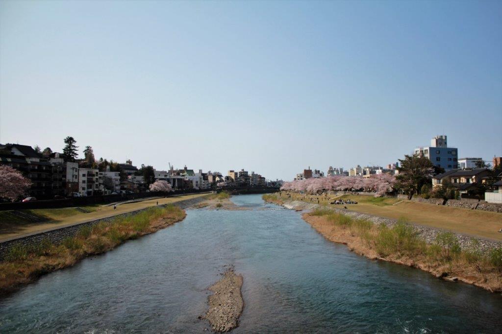 桜橋からの犀川