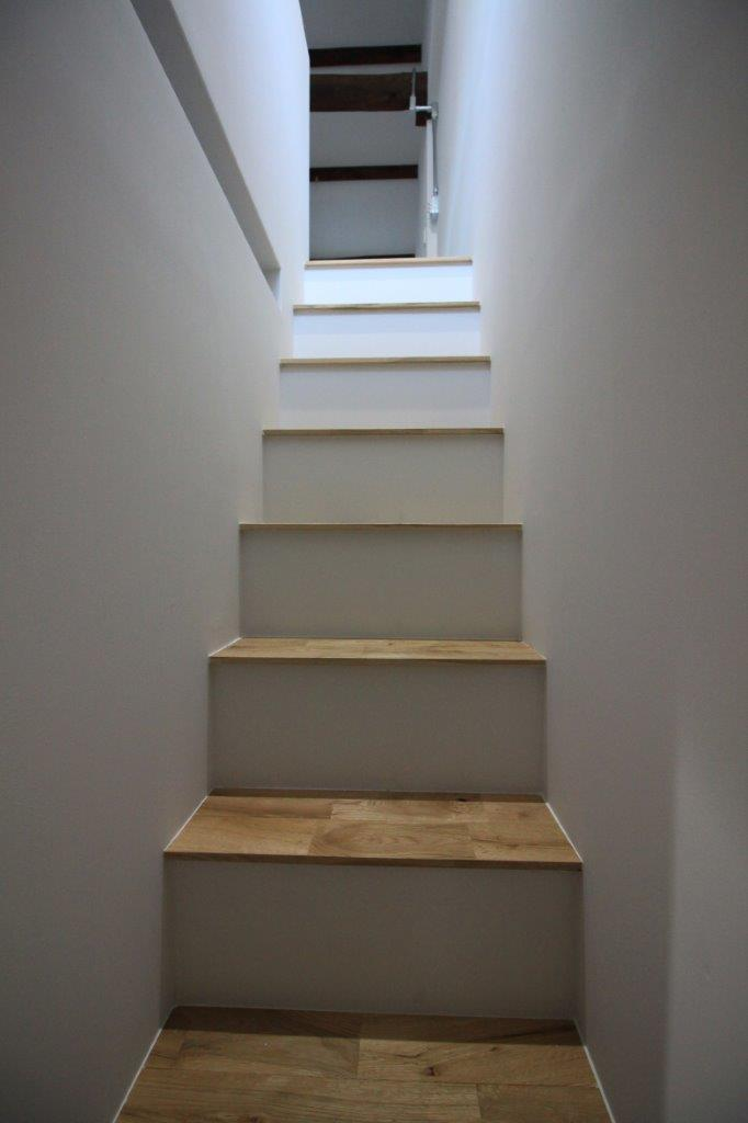 真っ白な階段。